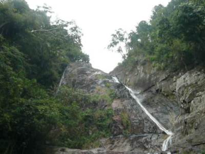 Surathalee fall captured in a thin mist