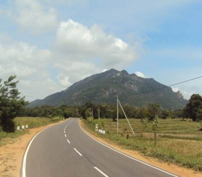 Ritigala mountain as seen from the highway….