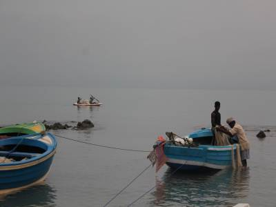 The main source of income for the residents is by fishing