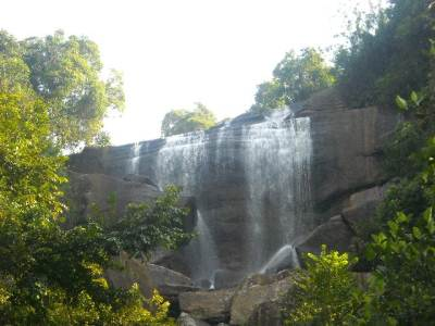 Upper part of the the 5th highest waterfall of Sri Lanka, the Olu falls