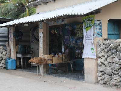 The few village style boutiques and shops sell all types of consumer goods