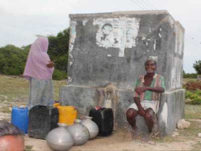 Potable water is available in wells situated in certain parts of the island