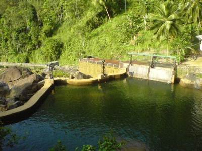 "Reservoir of the mini hydro power plant at ""Peragas handiya"""