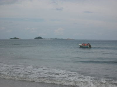 Pigeon Island as seen from the Nilaweli beach