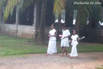 "sisters in white were ready to observe ""sil """