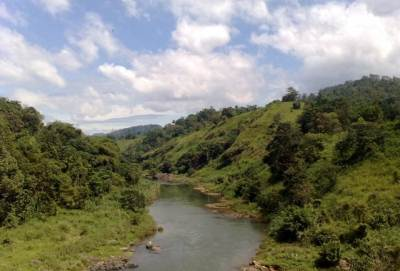 Mahaweli river flows calmly