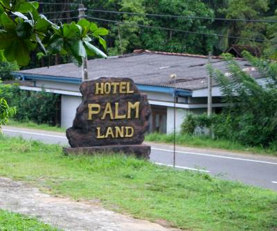 Hotel Palm Land on to the left of A18 a bit after the Godakawela town