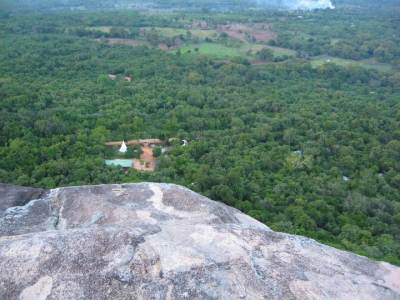 New Pidurangala temple seen from top of Pidurangala rock