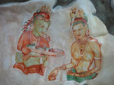 Paintings at Sigiriya museum