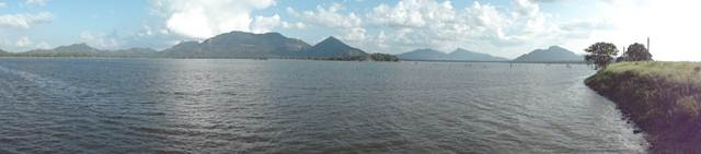 Panoramic view of Kandalama lake