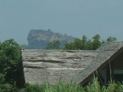 Sigiriya Rock Fortress on Background