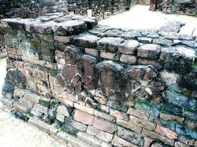 Wall plastering remained at the Royal Palace