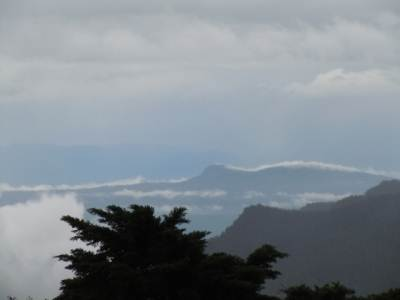 Breathtaking view of Horton plains range from the hotel