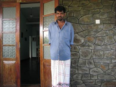 Thilakasiri the friendly Bungalow keeper