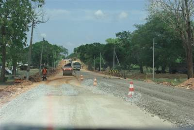 ROAD CONSTRUCTION TAKING PLACE
