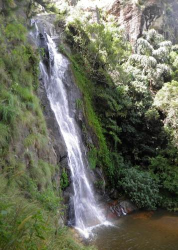 Waterfall on top of Bambarakanda