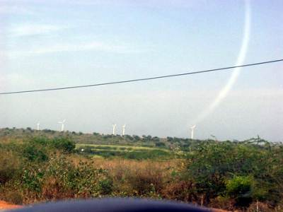 Wind mills to produce electricity at Hambantota
