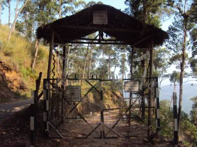 Entrance of the eco lodge