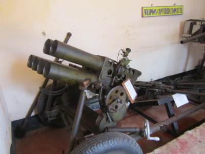 Weapons captured from LTTE