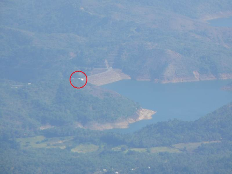 Samanalawewa Reservoir & VIP Bungalow zoomed from World's End