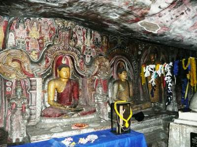 Inside of a house of statues built in Kandy era