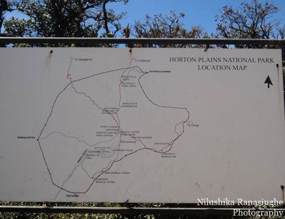 Horton Plains Location Map