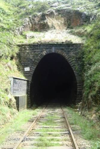 Tunnel Number 18 - Halfway through the tunnel it is pitch black and the ground below is slippery