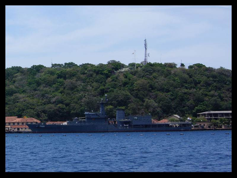 SLNS Sayura berthed at Naval dockyard