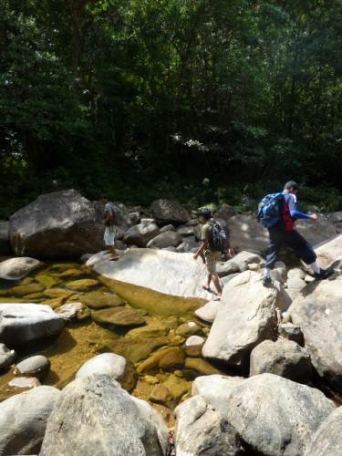 At the trail head-pandeniya river crossing