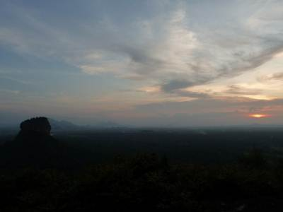 Sigiriya at sunset as seen from pidurangala