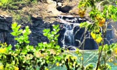 waterfall near the dam