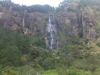View of the water fall from the road
