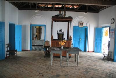 "Inside the old styled ""Dharma Shaalawa"""