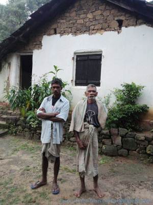 From right to left - Wijerathna uncle who lives there and Basnayake who was our guide