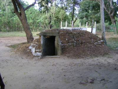 The main bunker had four out bunkers at the corners inter connected and a generator room, The main Bunker had been air conditioned