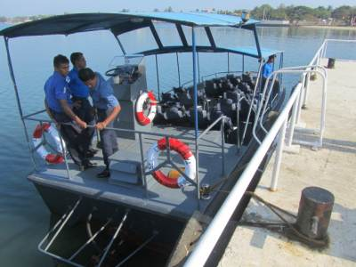 Captured LTTE Boat used for the trip