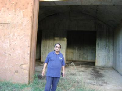 The LTTE air plane bunker is also at the same site We managed to get permission to see the banker too.