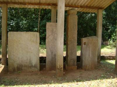 Some preserved stone inscriptions were in a shed put up by Archeology department