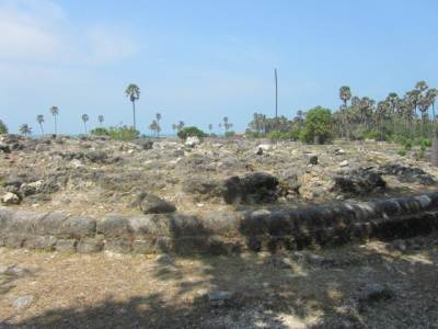 visible remains of 3 Sthupas