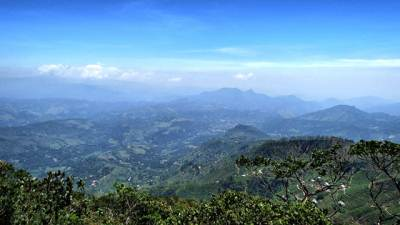 Badulla town and Narangala mountain range