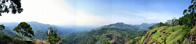 panorama of poonagala range