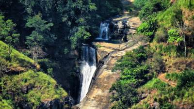 unseen top most part of babaragama falls