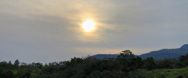sun is setting over poonagala hills