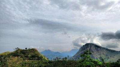 Ella rock and little adams peak seen from 98 acres hotel