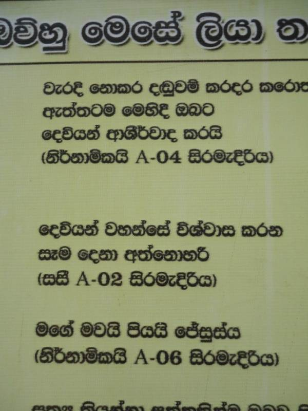 Sinhala translation of what prisoners had written on walls