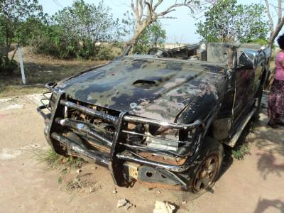 bullet-proof vehicle used by a LTTE leader