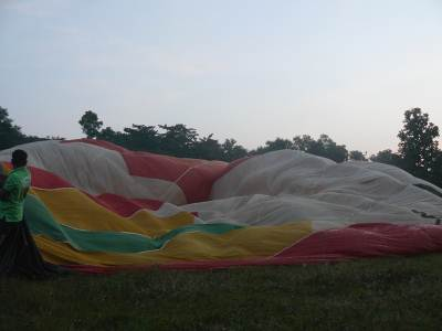 Partially inflated balloon