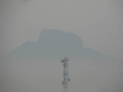 Seegiriya, not clear with morning mist