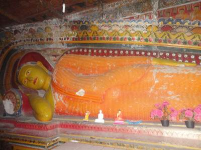 the Buddha statue inside