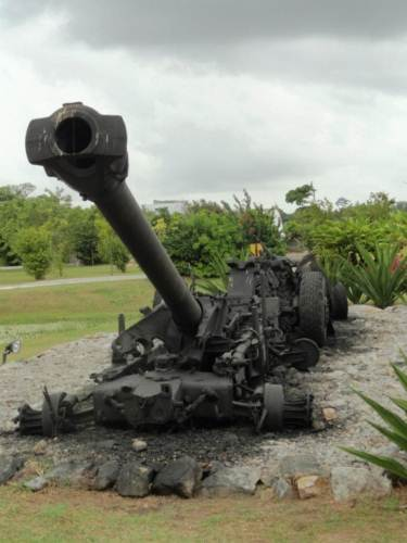 Destroyed 130 mm Artillery